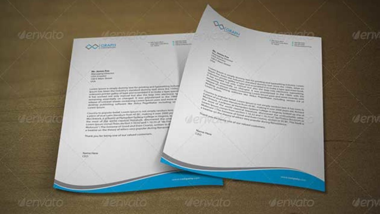 21+ Free Letterhead Templates Available In PSD MS Word & PDF Formats Throughout Word Stationery Template Free