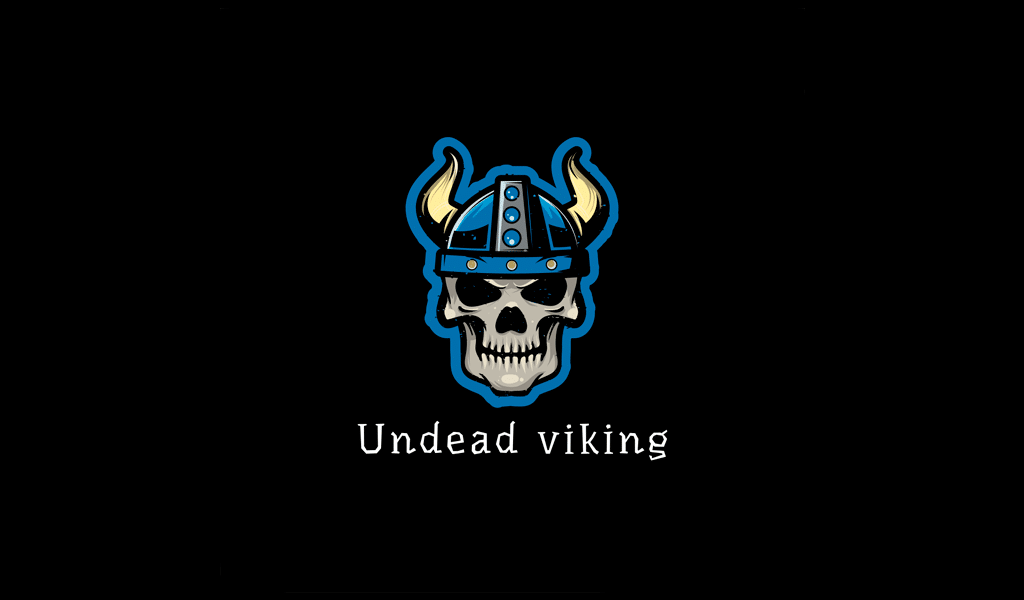 undead viking game logo