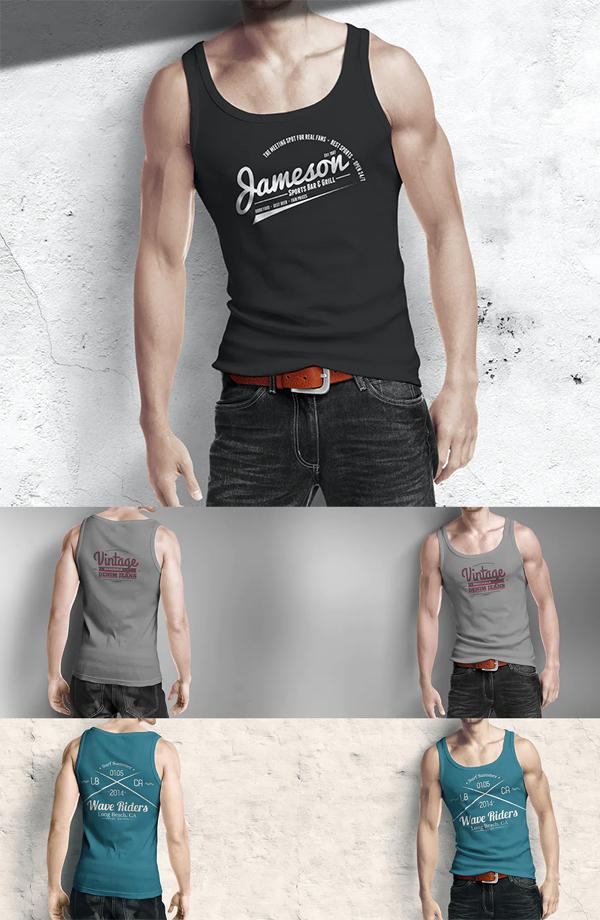 Men's Tank Top Mockup - Free T-Shirt Mockup Templates PSD