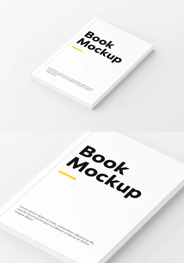 Realistic Book Cover Mockup Templates - Creative Book Mockup
