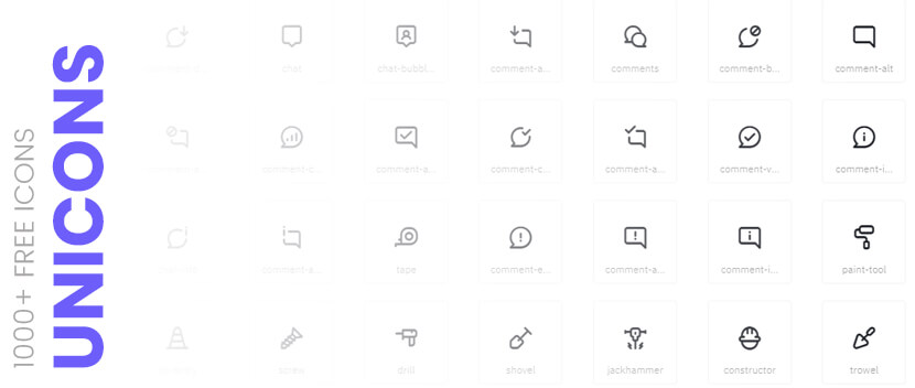 unicons free icon pack