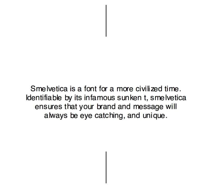 Smelvetica - A Practical Joke For Designers 3