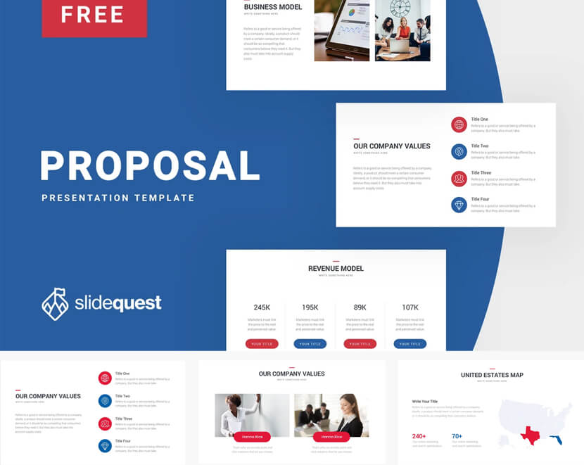 Proposal Free Google Business Slide Show Template