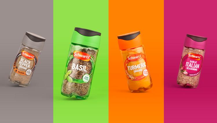 Schwartz packaging redesign