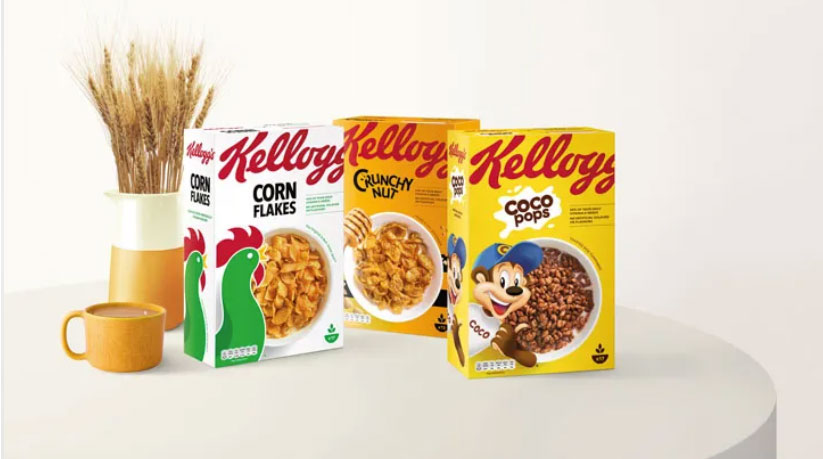 Kellogg's cereal box or packaging redesign