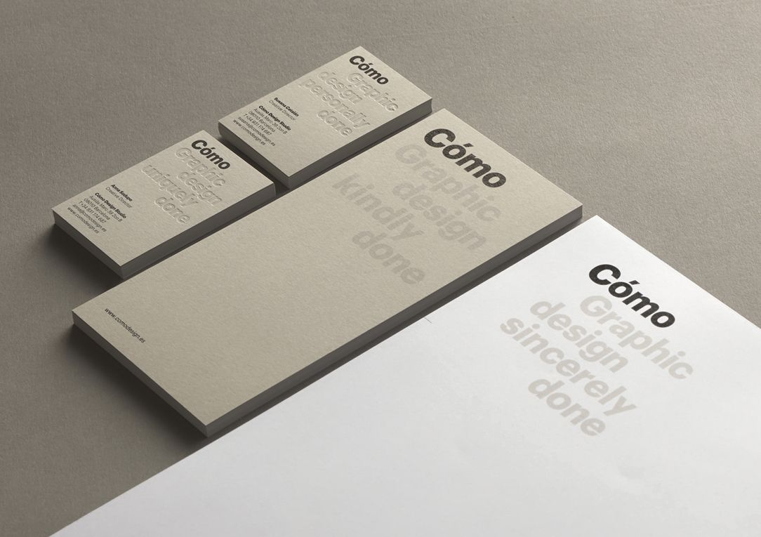 Fonts for designers, Brand identity for [Como] (http://www.comodesign.es/)