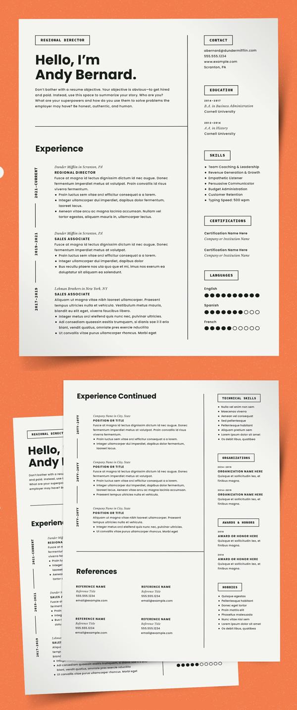 Modern Resume Template CV