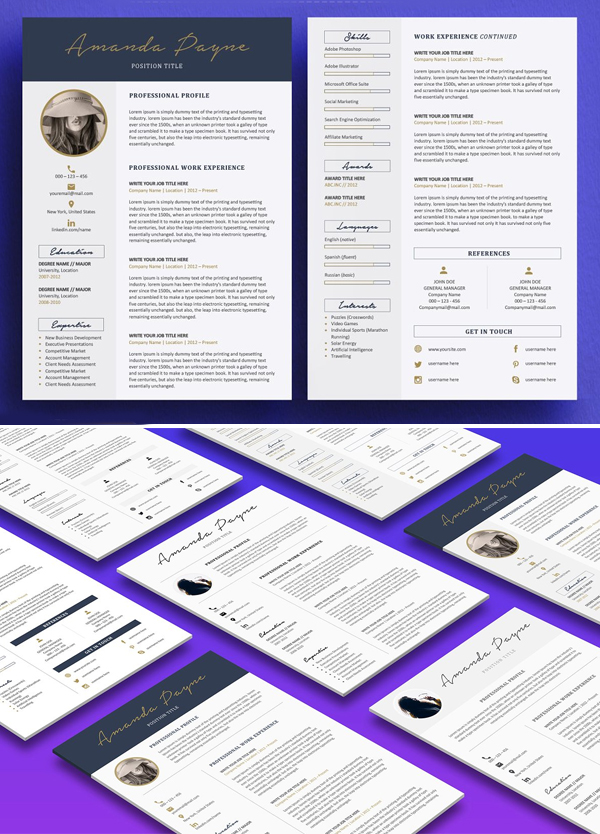 Minimum resume / CV template