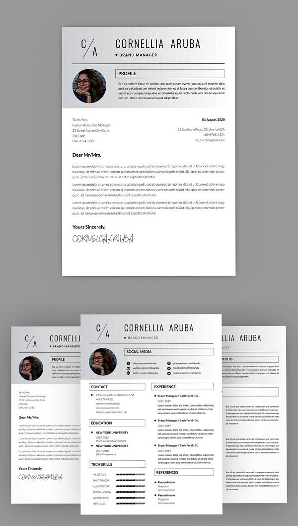 Cornellia Brand Resume Design