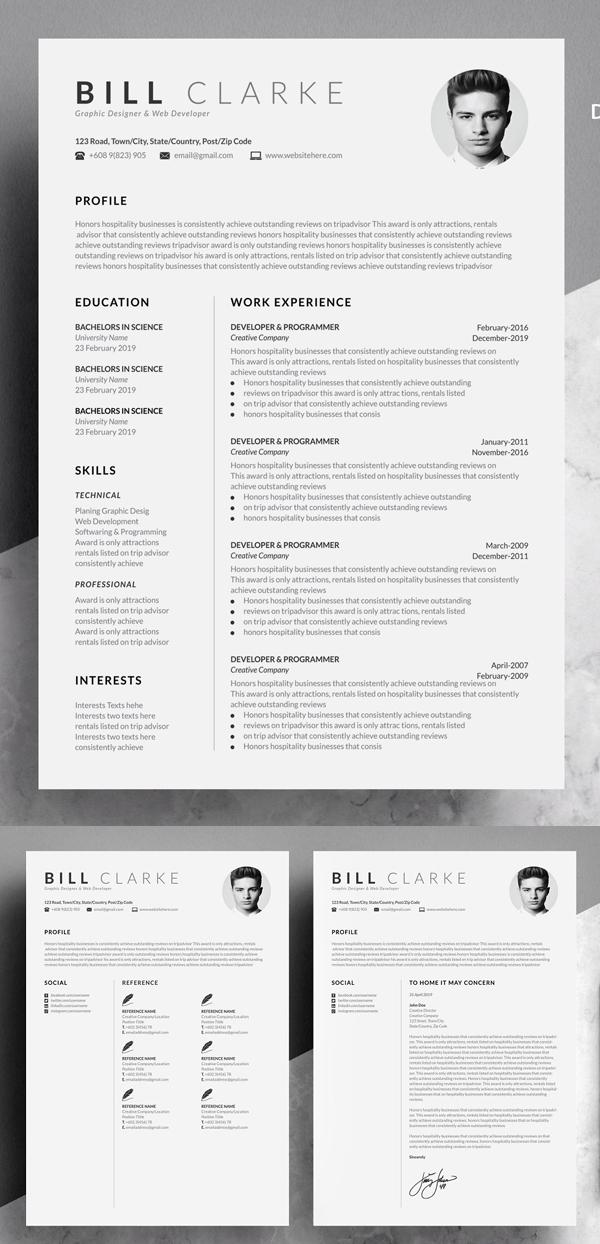 Curriculum vitae and presentation card