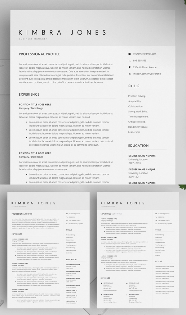 Featured Resume Template