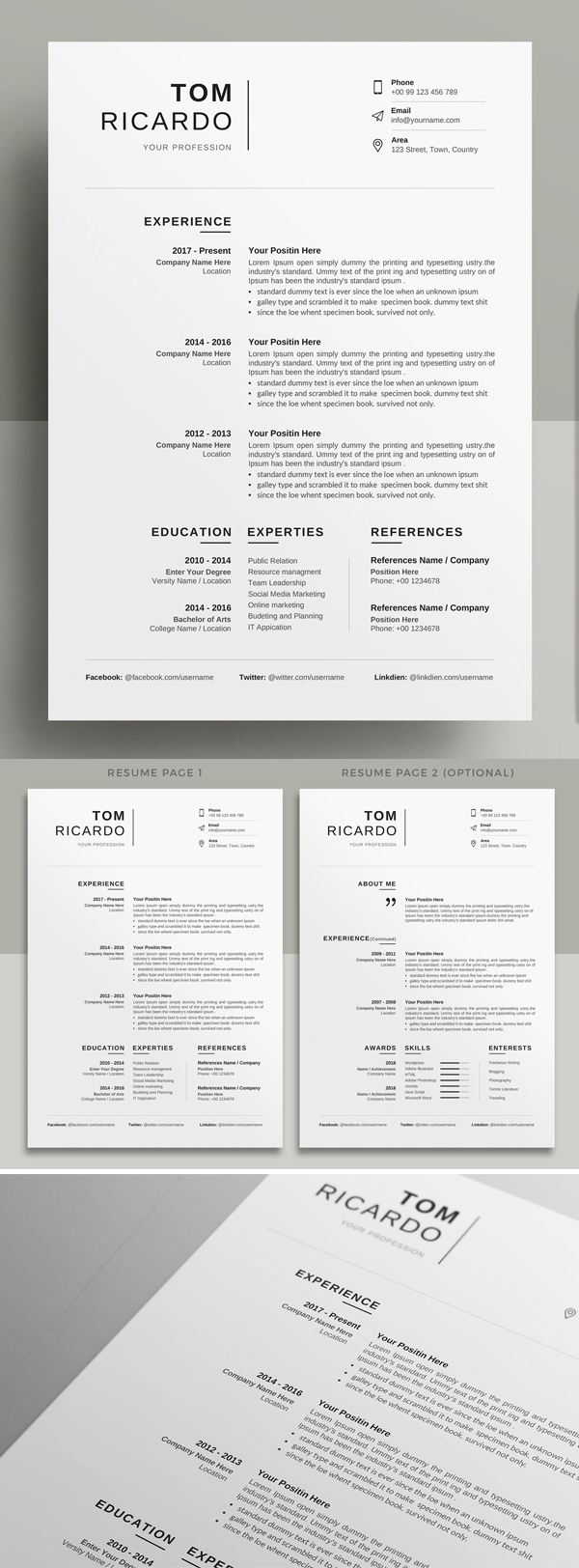 Simple Creative Resume