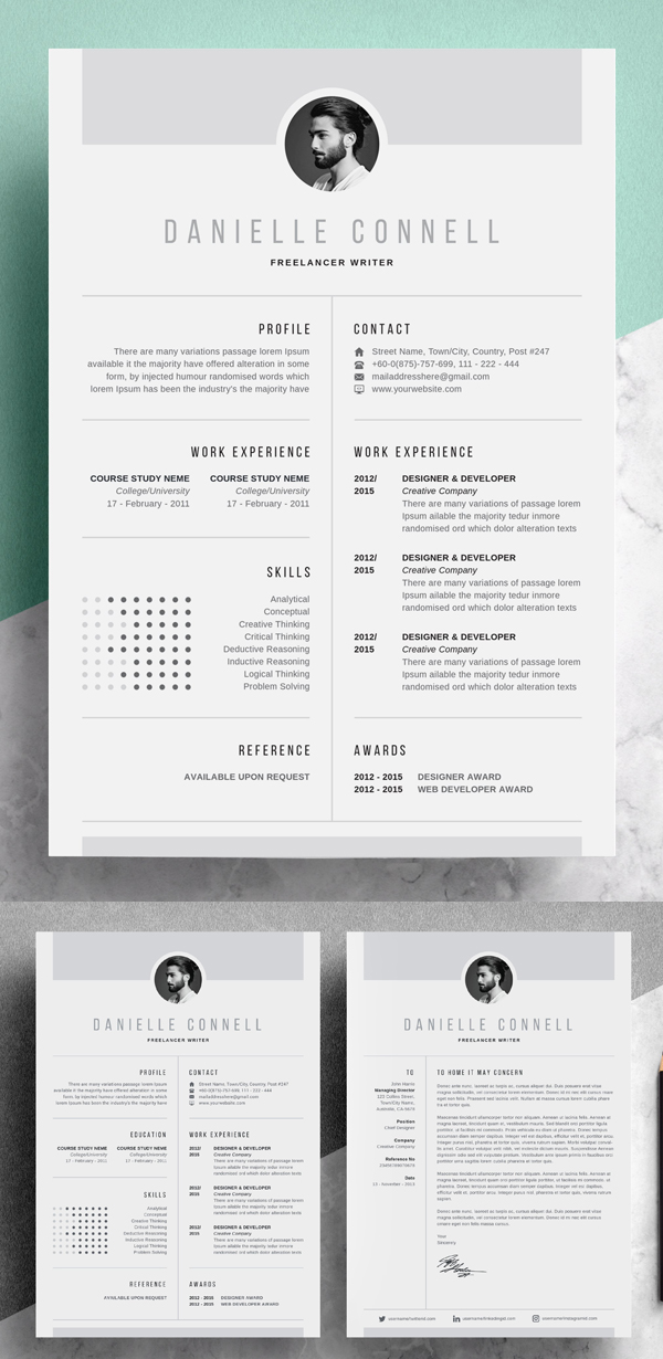 Simple Creative Resume   CV design
