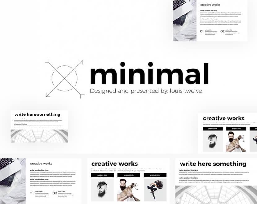 Minimal Free Google Slides Template by LouisTwelve
