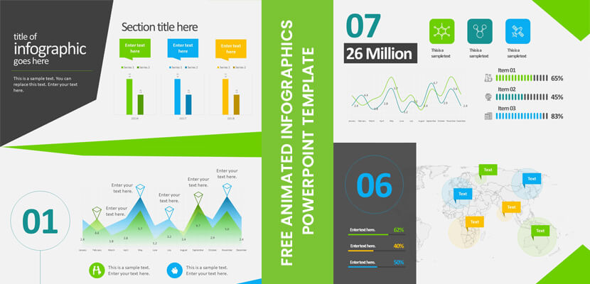Free animated business infographics