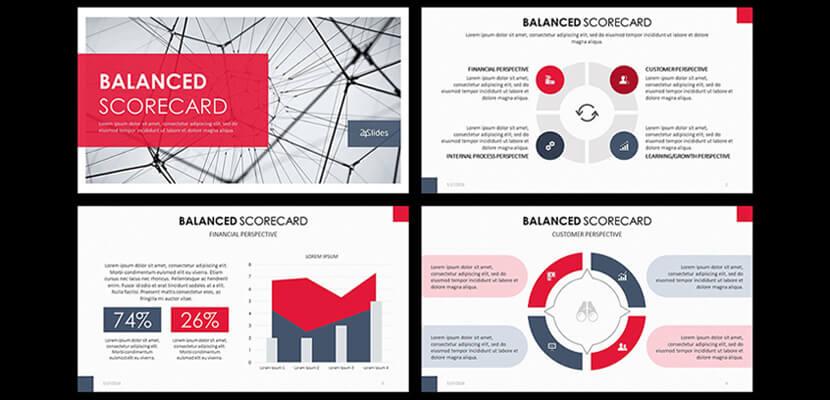 Balanced Scorecard Free Infographic Powerpoint Template