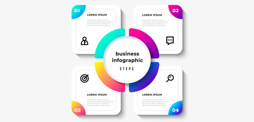 business steps free vector