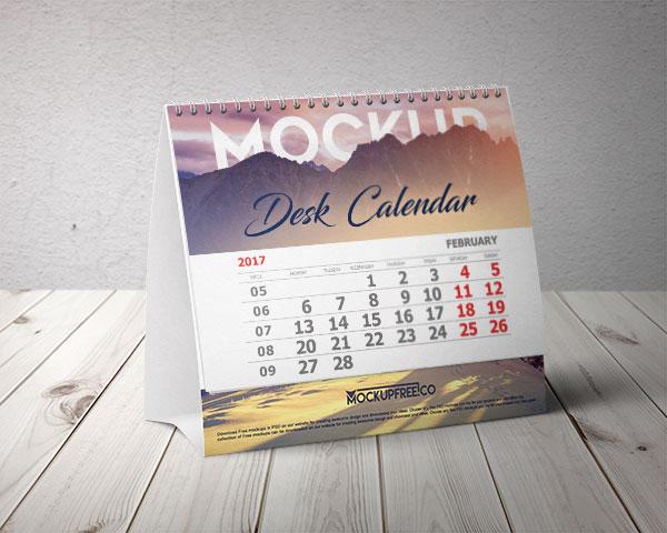 Calendar mockup table