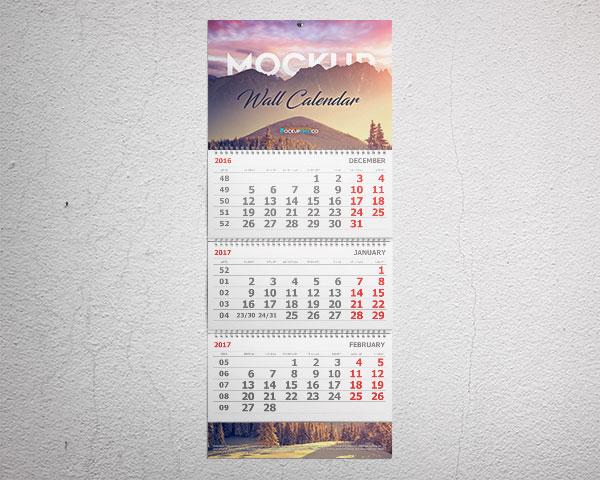 Wall Calendar 3 Month Calendar