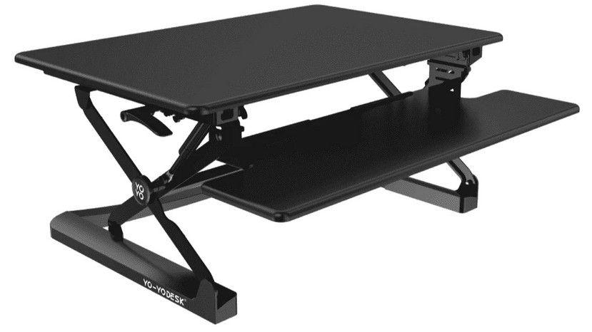 Desks for standing or sitting