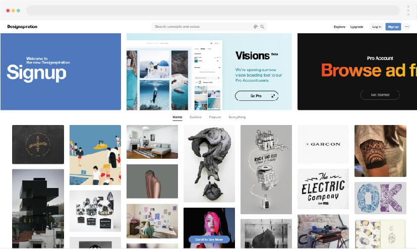 8 Inspiration for web design Inspiration for design