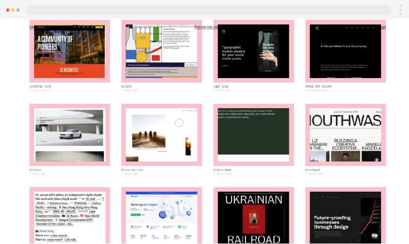 10 inspiration for web design Admire Web