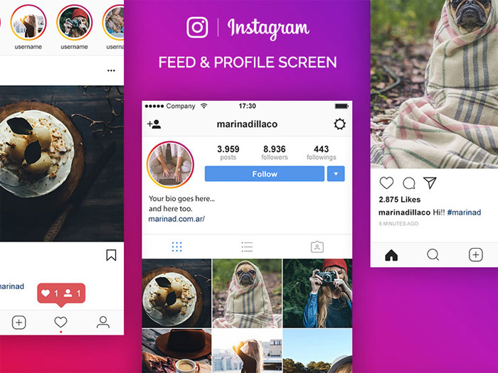 Dribbble-ig Instagram Mockup Templates to download for your presentations