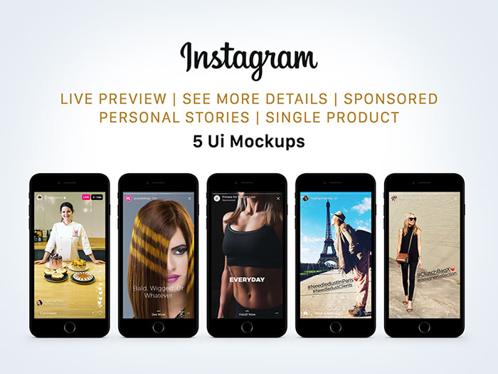 free_instagram_sponsored__l Downloadable Instagram Mockup Templates for your presentations