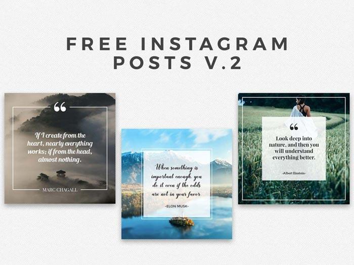 Instaframe-posts-v Instagram Mockup Templates to download for your presentations