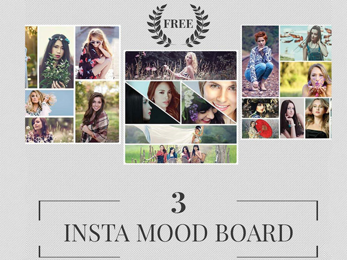 Free-insta-mood-board-2disp Instagram templates to download in your presentations