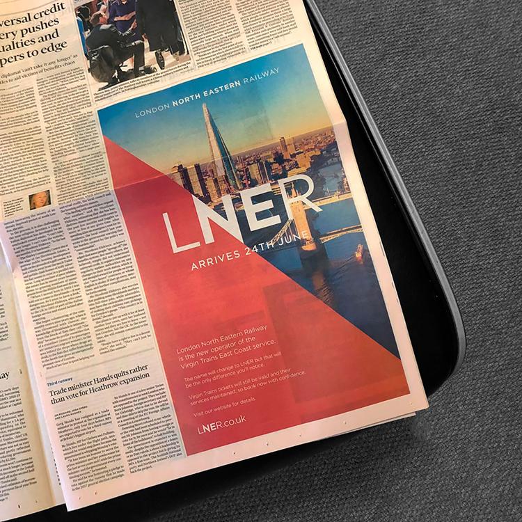 Creative designs for LNER train line