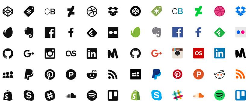 social media free icon pack