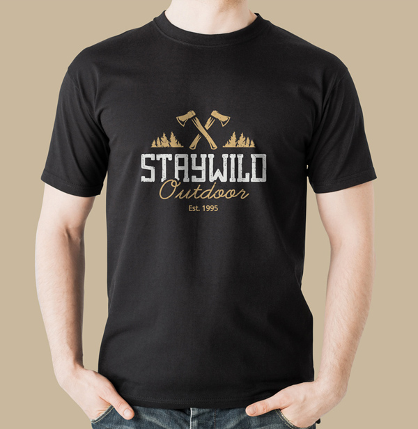 Free T-shirt Mockup Templates PSD - Free Black T-Shirt Mockup PSD
