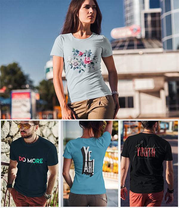 Best Fashion T-Shirt Mockup - Free T-Shirt Mockup Templates PSD