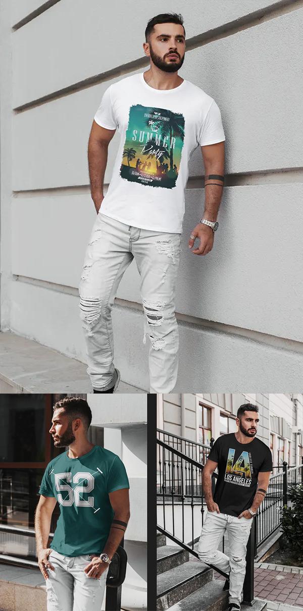 Stylish Men's T-Shirt Mockup - Free T-Shirt Mockup Templates PSD