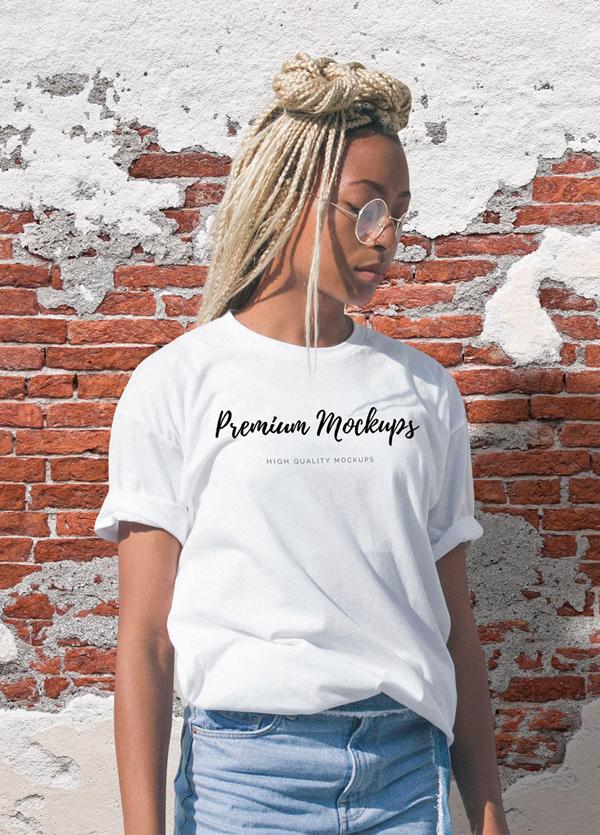 Free T-shirt Mockup Templates PSD - Free Girly T-Shirt Mockup