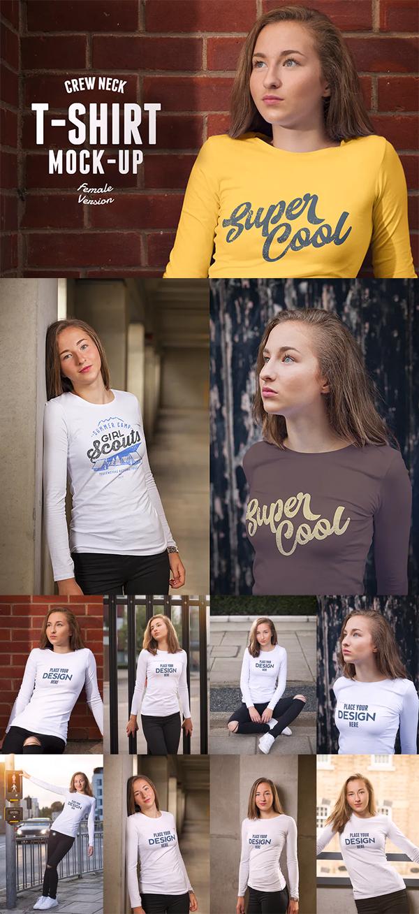 Round neck t-shirt mockup