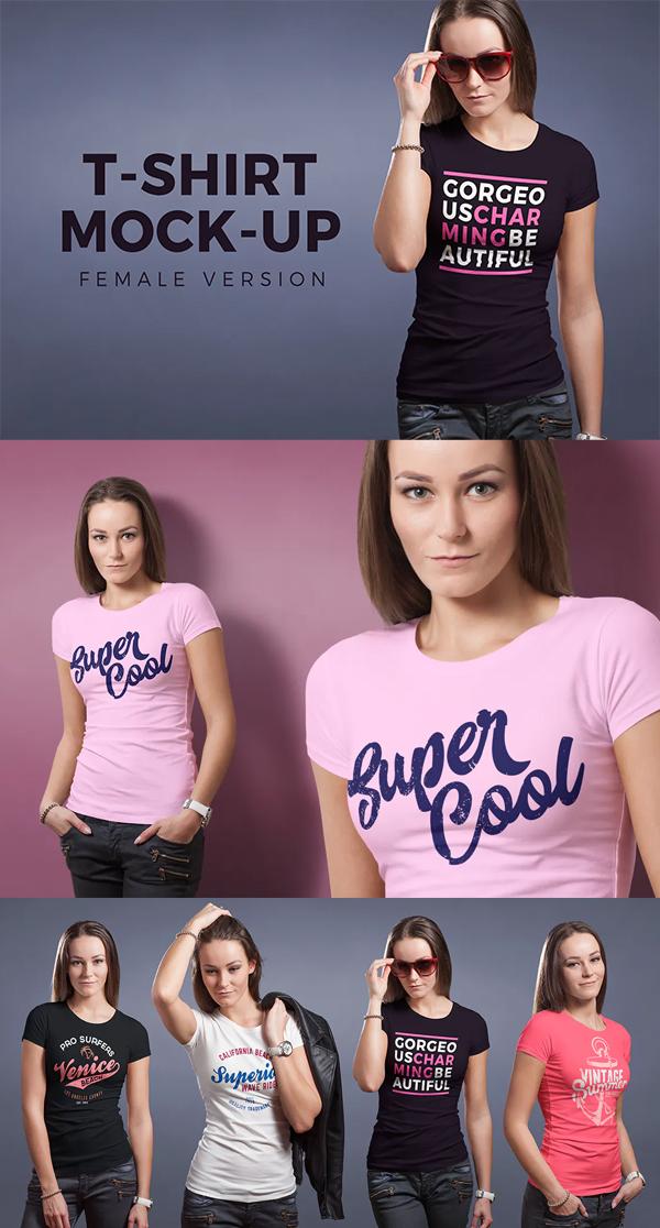 Perfect feminine t-shirt mockup