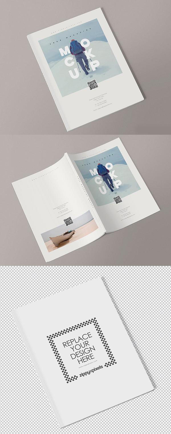 Magazine Mockup Templates PSD Free Download - Free Presentation Mockup Templates