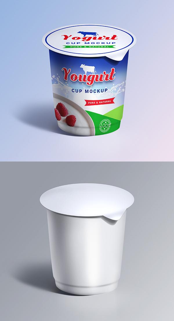 Free Yogurt Cup Mockup PSD Template - Free Presentation Mockup Templates