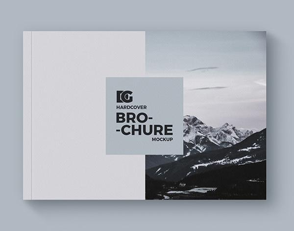 Hardcover Brochure Mockup Design Free PSD Download - Free Presentation Mockup Templates