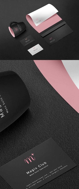 Free Dark Branding PSD Mockup Template - Free Presentation Mockup Templates