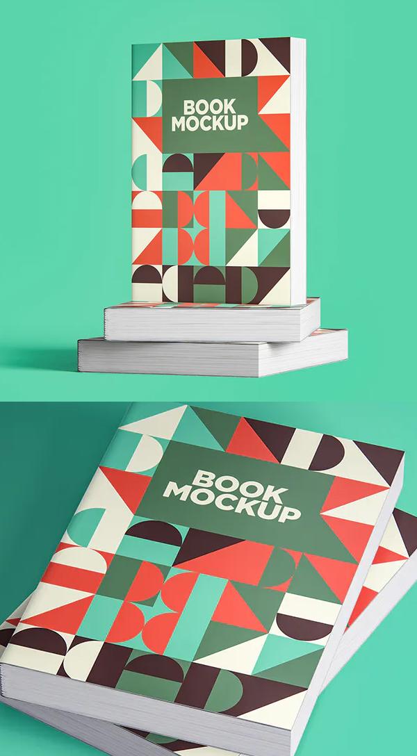 Realistic Book Cover Mockup Templates - Book Mockup Pack