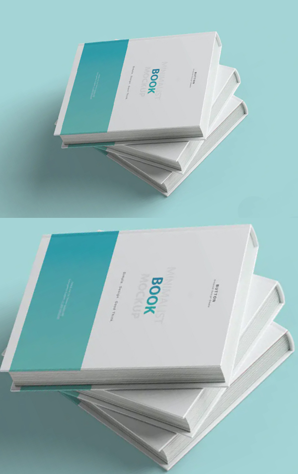 Realistic Book Cover Mockup Templates - Simple Book Cover Mockup