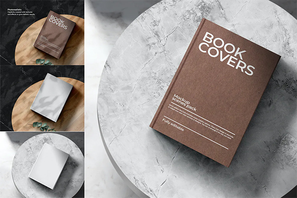 Realistic Book Cover Mockup Templates - Best Book Mockup