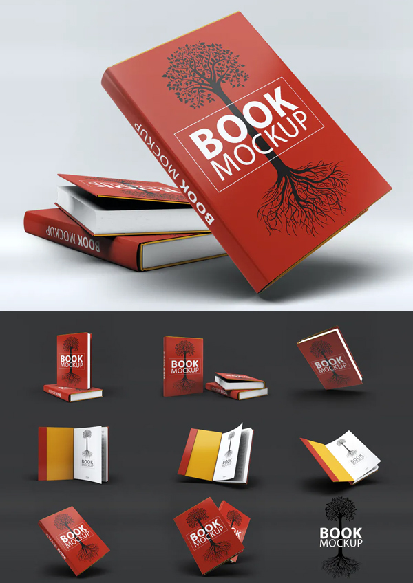 Red book cover mockup