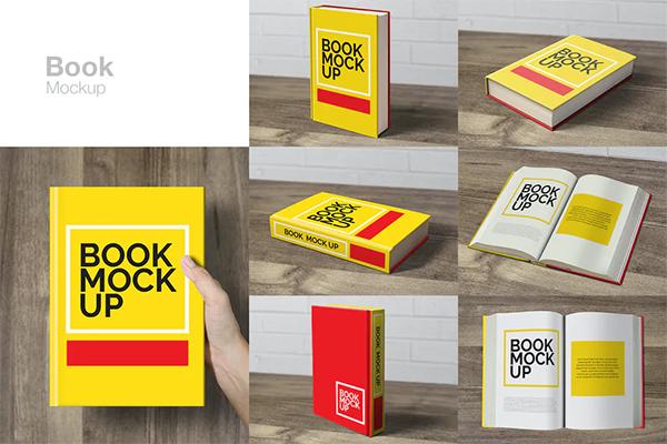 Yellow book mockup