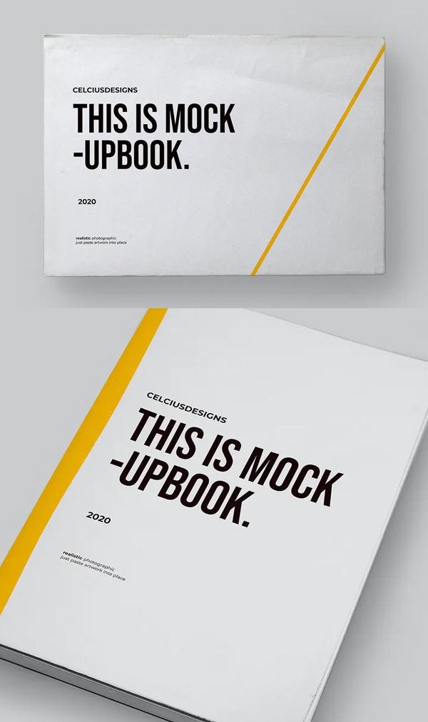 Realistic Book Cover Mockup Templates - Realistic Book Mockup