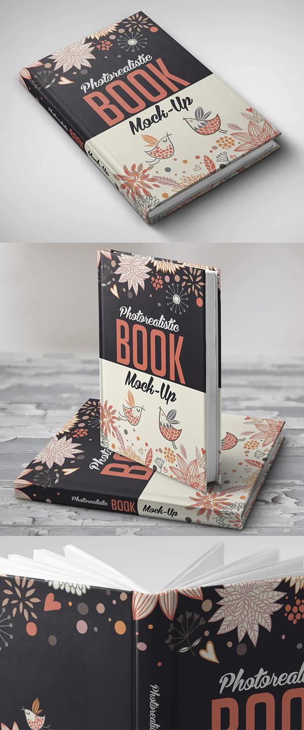Realistic Book Cover Mockup Templates - Photorealistic Book Mockup