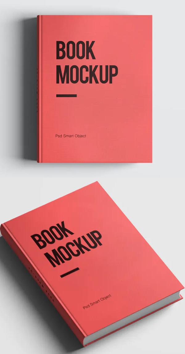 Realistic Book Cover Mockup Templates - Perfect Hardcover Book Mockup